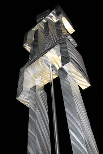 Kinetic Man sculpture by Russ RuBert