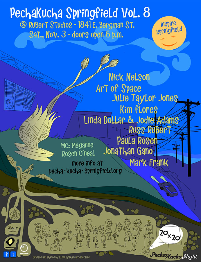 PechaKucha Night vol. 8 poster by Pam RuBert
