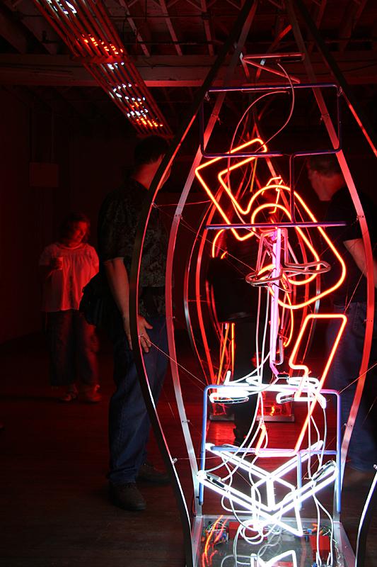 Studio B neon installation